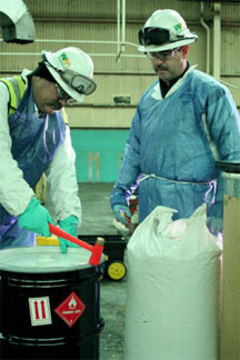 waste management workers